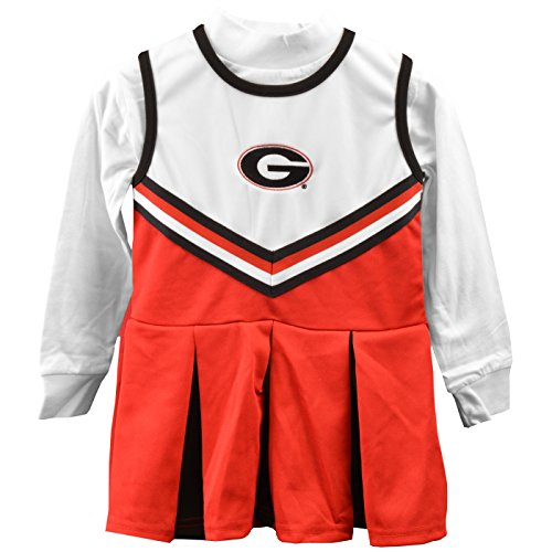 Georgia Bulldogs Girls One Piece Cheer Dress - Size (Georgia Bulldogs Mascot Costume)