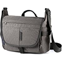 Kissfairy Large Capacity Camera Bag Laptop Bag Waterproof Shoulder Bag for SLR / DSLR Camera and Accessories(Gray-L)