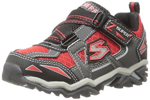 Skechers Kids 90421L Pillar 2.0 - Hawk Light-Up Sneaker  (Little Kid),Black/Gray/Red,5 M US Toddler