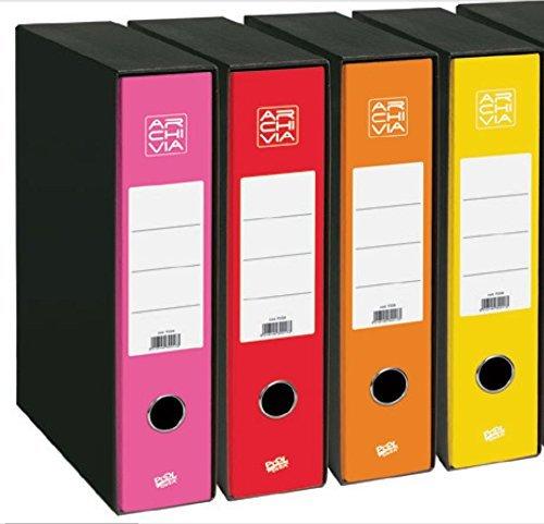 Archivia - Archivador (33 x 28,5 cm, dorso: 8 cm), color rojo: Amazon.es: Juguetes y juegos