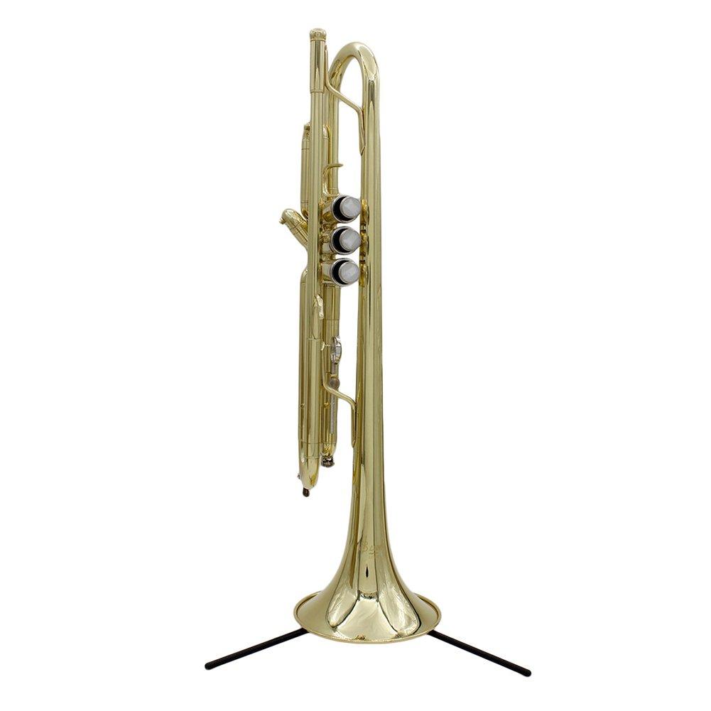 Negro Dilwe Soporte de la Trompeta Plegable ABS Trompeta Tr/ípode Holder Desmontable Piernas Instrumento Musical