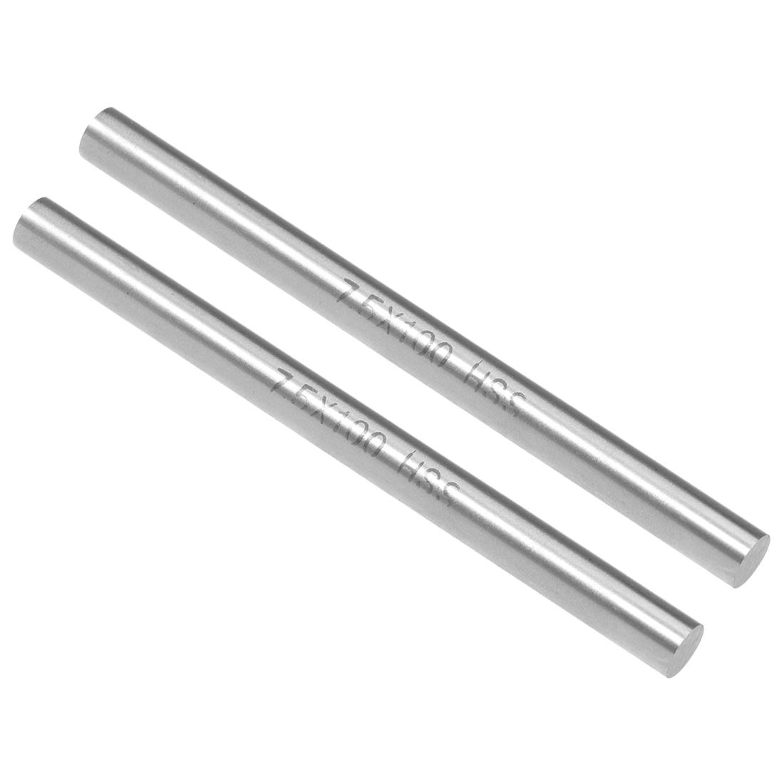 sourcing map HSS Lathe Round Rod Solid Shaft Bar 12mm Dia 100mm Length 2Pcs