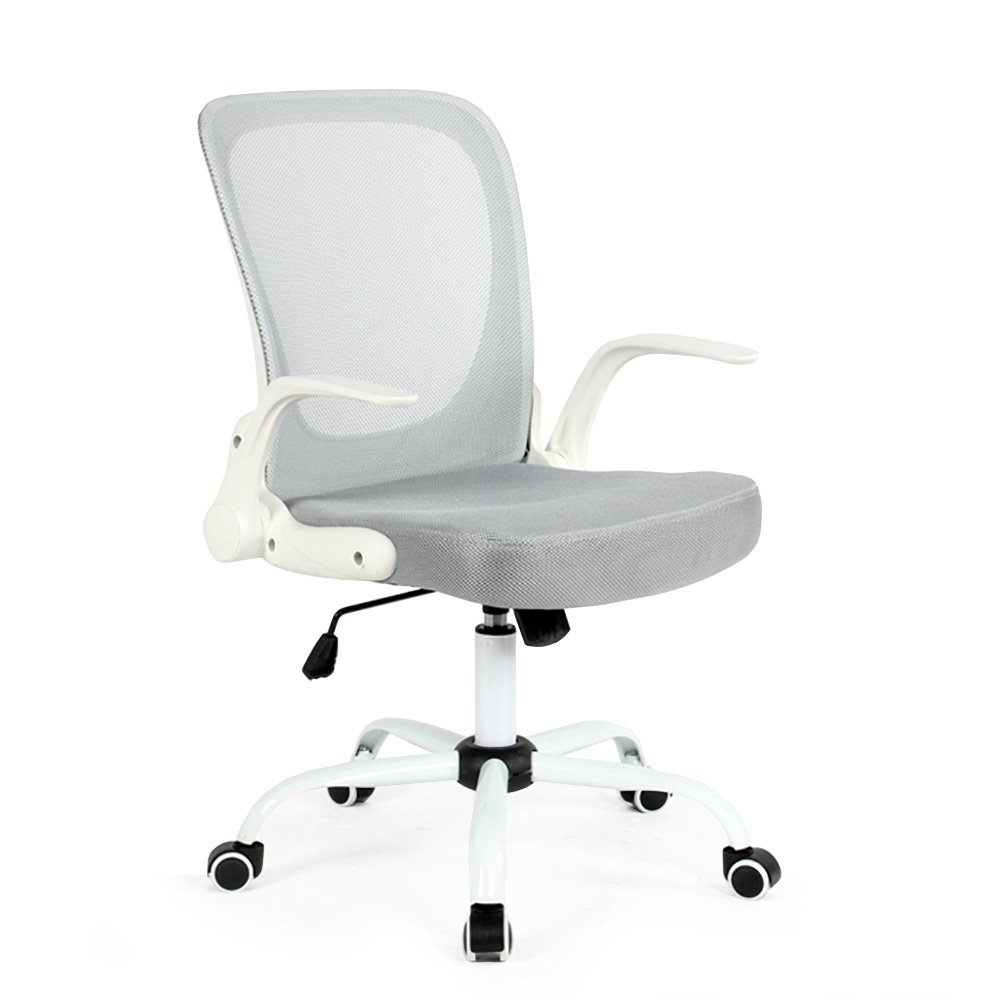 Modern Home WHGRAY Omni Mid - Back Office Chair White/Gray