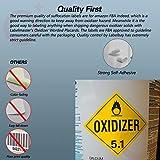 Labelbay Hazard Class 5.1 Oxidizer Hazmat with