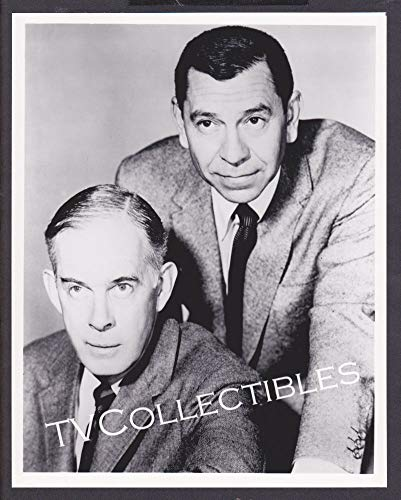 Amazoncom 8x10 Photo Tvs Dragnet Actors Jack Webb Harry Morgan