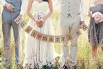 Amazon De Veewon Girlande Vintage Rustikal Kraftpappe Hochzeit