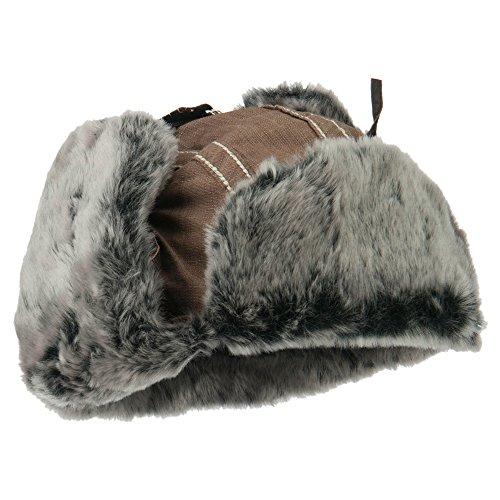Chambray Faux Fur Trooper Hat - Brown OSFM