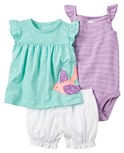 Carter's Baby Girls' 3 Piece Diaper Cover Set