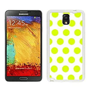 Pop Samsung Galaxy Note 3 Case Polka Dot White and Turquoise Soft TPU Rubber White Phone Cover Speck Mobile Accessories
