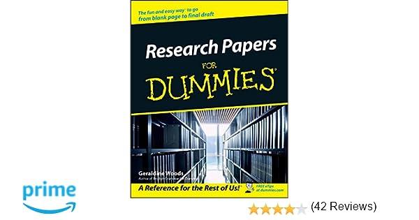 com research papers for dummies geraldine com research papers for dummies 0785555105553 geraldine woods books