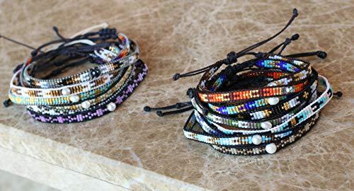 KELITCH Pearl Sead Beaded Wax Rope Charm Wrap Bracelets Handmade Friendship New Women Jewelry