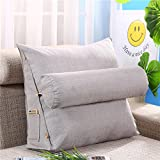 LIUSHIJITUAN ,Solid Color Flax Read The Pillow Removable Floating Window Tatami Sofa Cushion-J 60x50x20cm(24x20x8inch)
