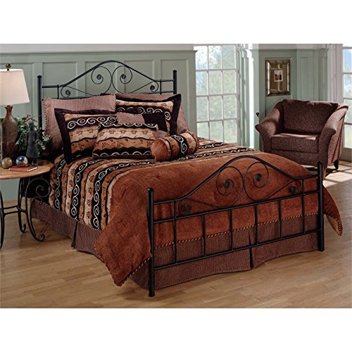 Poster Footboard - Hillsdale Harrison Queen Poster Bed in Textured Black