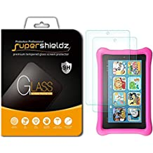 """[2-Pack] Supershieldz for All-New Fire 7 / Fire 7 Kids Edition Tablet 7"""" Tempered Glass Screen Protector, (7th Generation - 2017 release Only) Lifetime Replacement Warranty"""