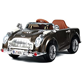 831g vintage classic 12v kids luxury ride on car and leather cushion seat