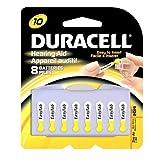 Duracell 1.4 Volt Zinc Air Hearing Aid Batteries Size 10 DA10B8 (8 Batteries) by Duracell