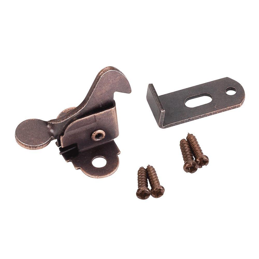 Hardware Resources EC01 Screw On Elbow Cabinet Door Latch - Single, Brushed Oil Rubbed Bronze