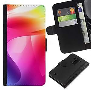 KLONGSHOP // Tirón de la caja Cartera de cuero con ranuras para tarjetas - Color de los remolinos - LG G3 //