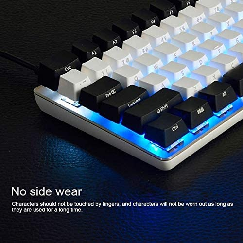 Color : Color1 Ruijinxin Laptop Computer Play Technical Keyboard White Blue Shaft