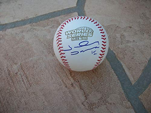 (Johnny Damon Autographed Signed Official 2004 World Series Baseball JSA COA - Authentic Memorabilia)