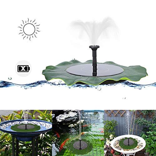 MASO Solar Pond Fountain Pump Solar Panel Powered Water Pump Floating Pump for Garden Pool Aquarium Fountain ()
