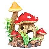 ZUINIUBI Aquarium Ornaments Resin Aquatic Mushroom House Décor with Swim Holes Fish Turtle Tank Decorations Eco-friendly Safe …