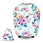 Baby Carseat Canopy Cover Breastfeeding Nursing Cover Baby Girl Gift from Little Pigeon
