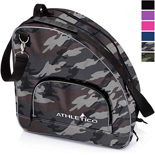 Athletico Ice & Inline Skate Bag - Premium Bag to Carry Ice Skates, Roller Skates, Inline Skates for Both Kids and Adults (Gray Camo)