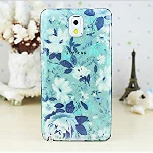 GJY sold out Colorful Flowers Transparent Rain Drop Hard Case for Galaxy Note 3 N9000 N9005 , 7