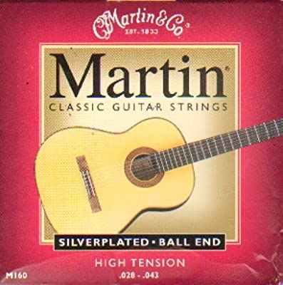 Martin M160 Silverplated Ball End Classical Guitar Strings .028-.043