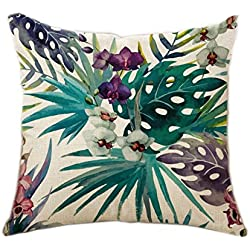 Fulinstore Pillow Covers for Sofa,Car,Garden,Seaside,Bedroom,Square Cushion Covers Throw Pillow Cases Decorative 18 x 18 (pattern 7)