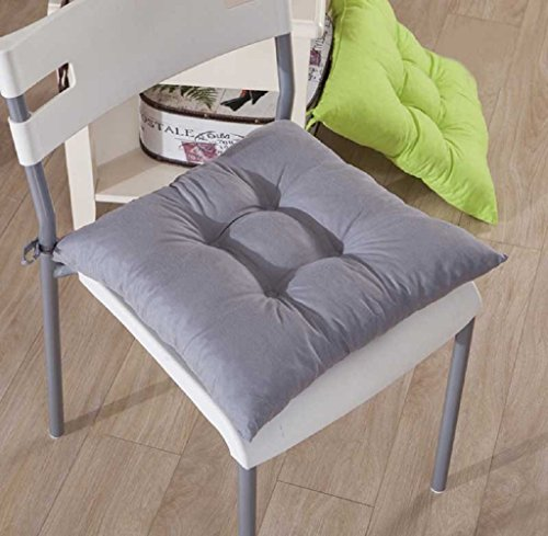 Gillberry Indoor Garden Patio Home Kitchen Office Chair Pads Seat Pads Cushion New (Gray) (Office Chair With Tray compare prices)