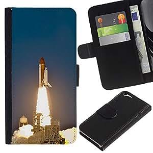 All Phone Most Case / Oferta Especial Cáscara Funda de cuero Monedero Cubierta de proteccion Caso / Wallet Case for Apple Iphone 6 // Space Shuttle Launch
