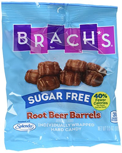 Brach's Sugar Free Root Beer Barrels Candy, 3.5 Ounce Bag, Pack of 12 -
