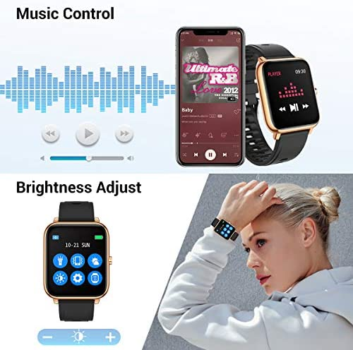 CanMixs Smart Watch for Android Phones iOS Waterproof Smart Watches for Women Men Sports Digital Watch Fitness Tracker Heart Rate Blood Oxygen Sleep Monitor Touch Screen Compatible Samsung iPhone 51sTbBKv qL