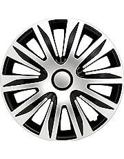PETEX RB547515 Wieldoppenset Nardo, dubbel gelakt ABS, zilver, maat 15 inch, set van 4