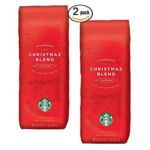 Starbucks - Roasted Whole kit Bean Coffee - 16 oz - Pack of 2 (Christmas Blend)