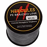 Hercules 1500m 1640yds Gray 10lbs-300lbs Pe Dyneema braid Fishing Line 8 Strands (15lb/6.8kg 0.16mm) For Sale