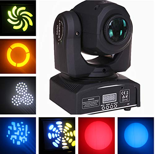 Ahlights Led 60W DMX512 Control Mini Gobo Spot Moving Head Light for DJ Disco KTV Party Stage