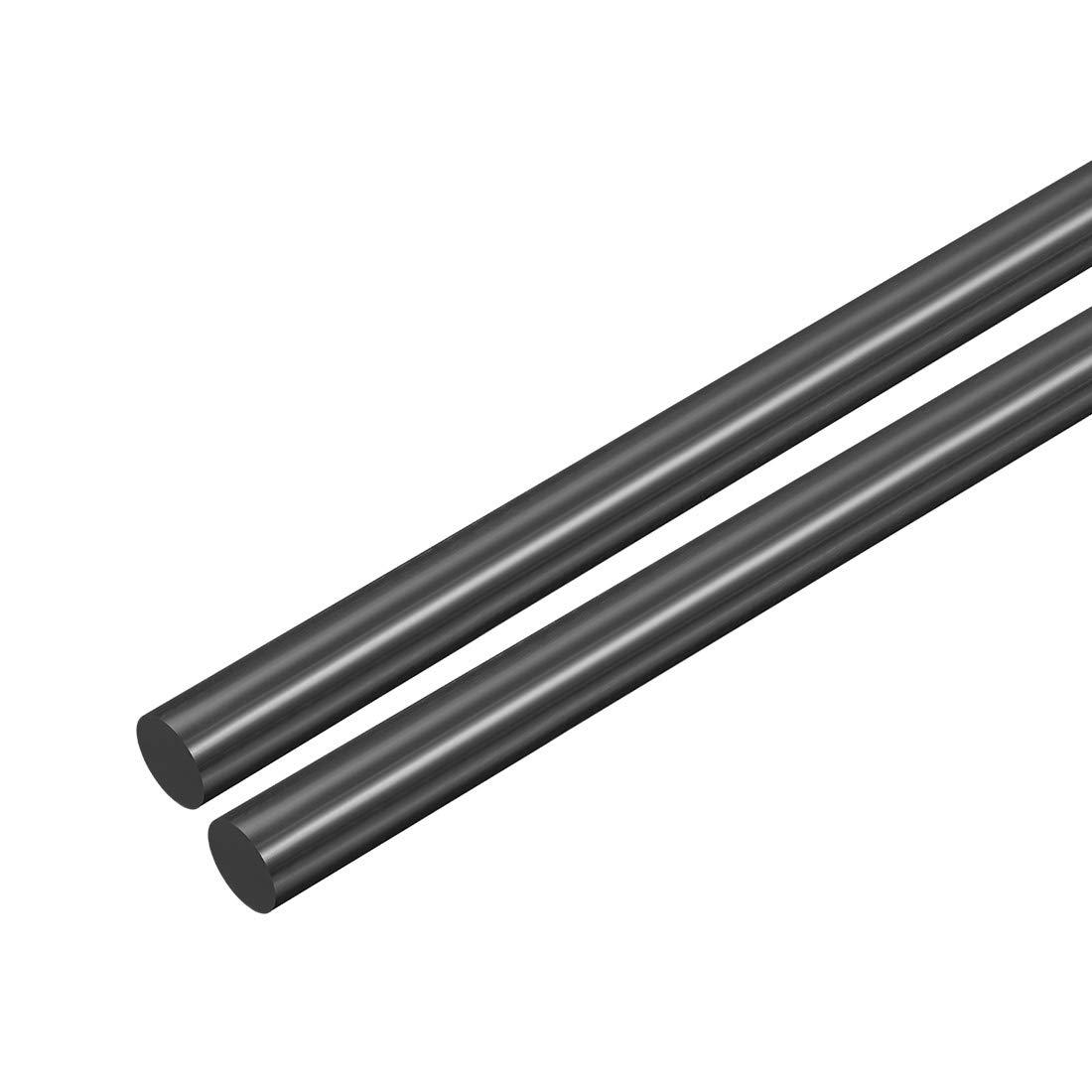 POM 1//8 Dia 20 Length White Engineering Plastic Round Bars Polyoxymethylene Rods sourcing map 2pcs Plastic Round Rod 3mm