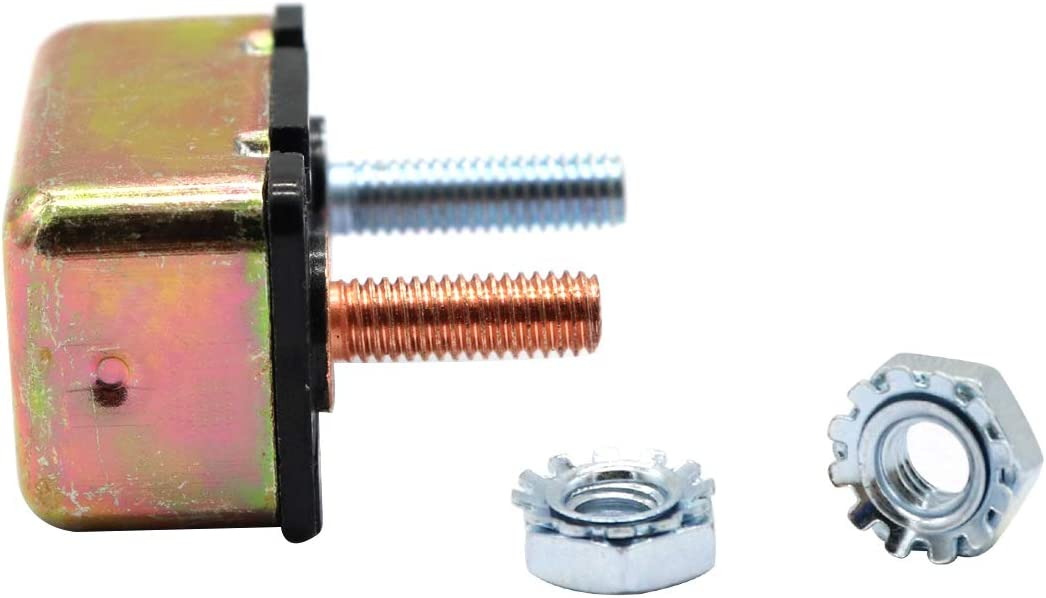 Vosarea Disjoncteur 12-28V /à r/éinitialisation Automatique pour Chargeur de Batterie