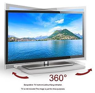 Ricoo Plateau Tournant Tv Fs053w Meuble Tv Led Support Téléviseur
