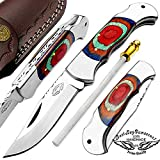 Cheap Best.Buy.Damascus1 Green 7.5″ Handmade Stainless Steel Folding Pocket Knife with Back Lock 100% Prime Quality – Premium Manufacture – Excellent Design in Stainless Steel-A Priceless Gift