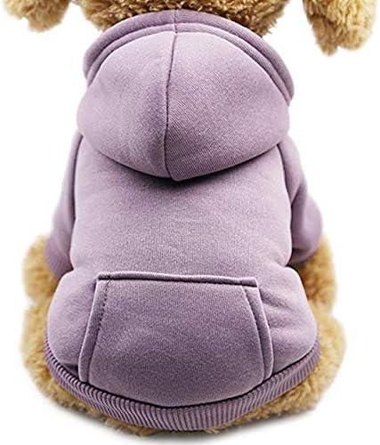 mit Tasche Pudel Schnauzer Chihuahua MEHRWEG Welpen einfarbig f/ür Kleine Hunde Outdoor Idepet Hunde-Kapuzenpullover Baumwolle f/ür Herbst und Winter Teddy