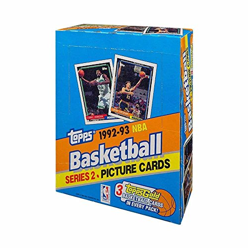 (1992-93 Topps Series 2 Basketball Rack Pack Box)