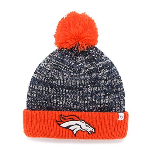 NFL Denver Broncos Women's '47 Trytop Cuff Knit Hat with Pom, Navy