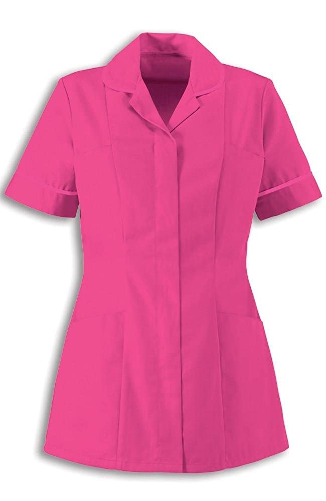 Alexandra Traditional Ladies Women Nursing Tunics NHS Health Medical Care (16, Bright Pink/Bright Pink)