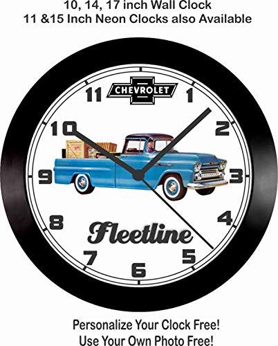 (Jim's Classic Clocks 1958 Chevrolet Fleetline Pickup Truck Wall)