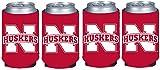 NCAA Nebraska Cornhuskers Glitter Can Koosie (Pack of 4)