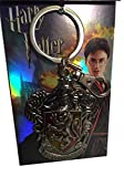 Harry Potter Gryffindor Color Crest Silver Pewter Metal Keychain Key Ring Clip